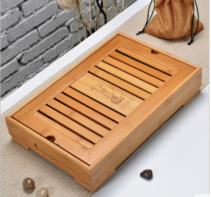 3 sizes tea accessories 2016 Chinese Bamboo tea tray tea accessories Chinese Exquisite Household Tea tray