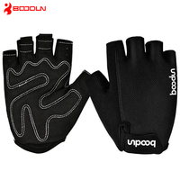 Hot Brand Men And Women Gym Gloves Outdoor Microfiber Balck Red Sport Gloves For Gym Anti