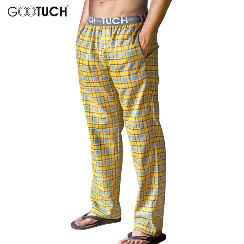 Gootuch Plaid Sleep Bottoms Pajama Cotton Underwear Piyamas Home Mens Lounge Pants