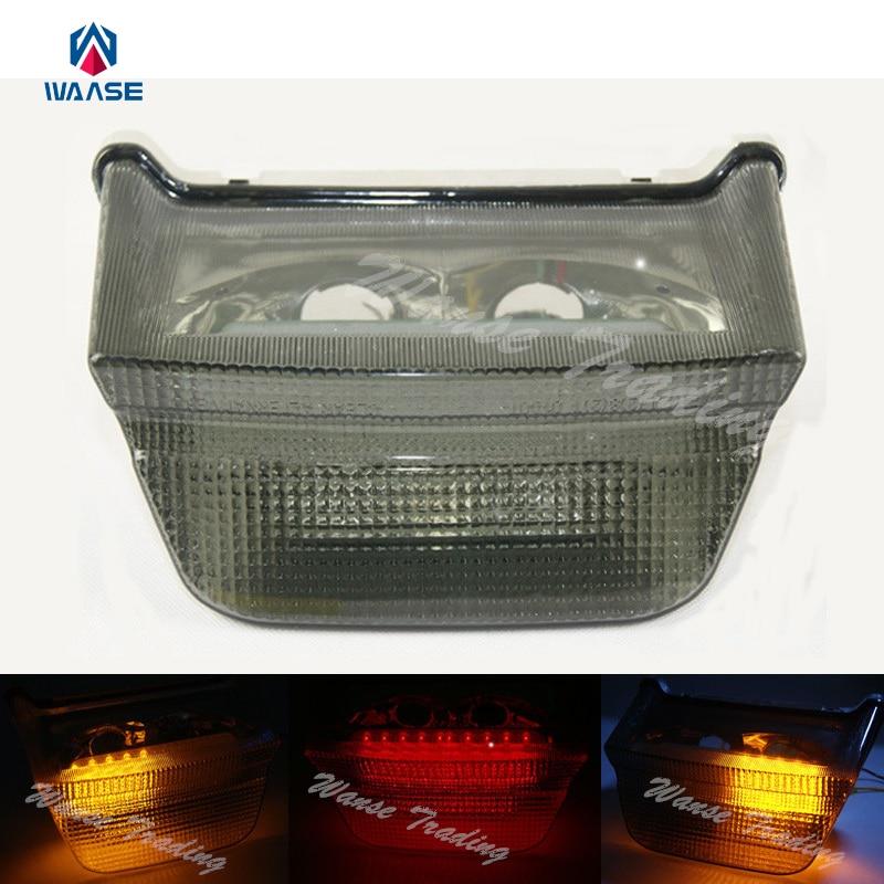 Waase Tail Brake Turn Signal Integrated Led Light Smoke For 1999-2005 KAWASAKI ZRX400 ZRX1100 ZRX1200 ZRX1200R ZRX 1100 1200