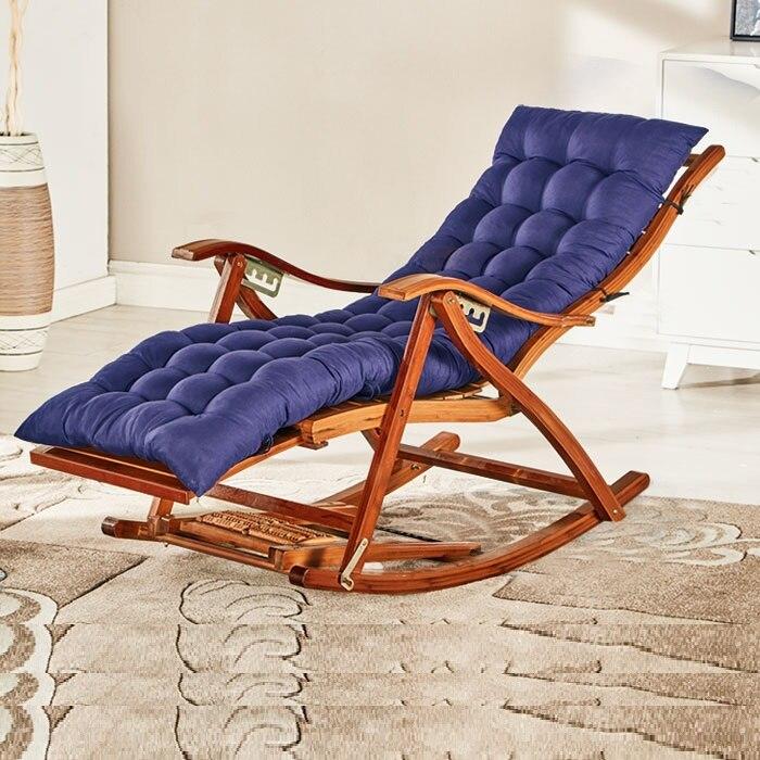10% chaise à bascule adulte pliant déjeuner pause facile chaise salon sieste lit maison balcon loisirs vieille chaise en bambou