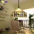 מנורת זכוכית מנורת תליון זכוכית צבעונית FUMAT הבארוק לחדר אוכל סלון אורות תליון נורות LED מטבח צבע Mulit-באורות תלויים מתוך פנסים ותאורה באתר
