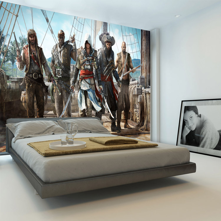 Wonderful Aliexpress.com : Buy Assassionu0027s Creed Wallpaper Video Game Wall Mural 3D  Photo Wallpaper Designer Room Decor Boys Bedroom Hallway TV Background Wall  From ... Part 19