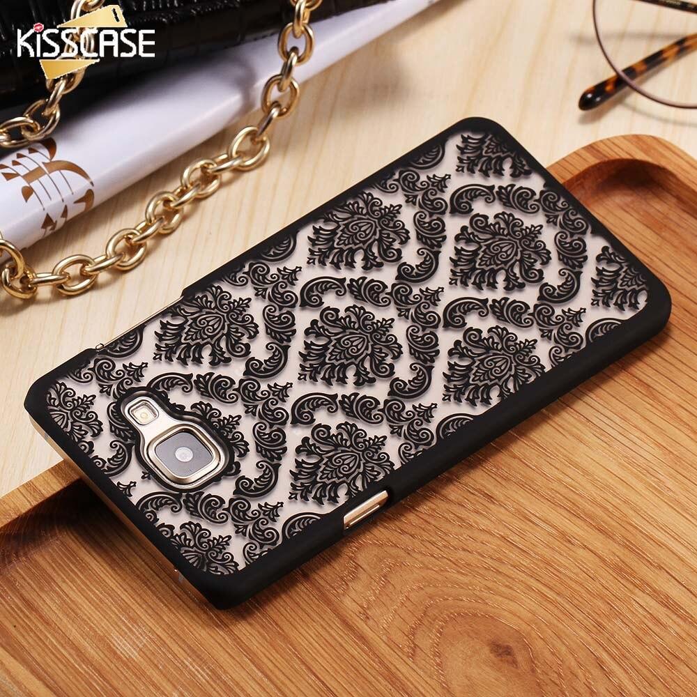 KISSCASE Floral Para Samsung Galaxy A5 A5  Henna A5100  Caso del Patrón Retro de
