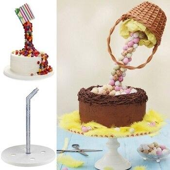 Nueva estructura de soporte para tortas con soporte para tortas para facilitar la gravedad de los pasteles por el marco de la torta