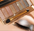 9 cores misturadas diamante brilhante deslumbramento Glitter Mineral Eyeshadow Palette