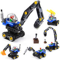 MEOA 5In1 38pcs Grote Bouwstenen Technic Serie Engieering Machine-grote Kraan MOC Bricks Techniek Truck Model Kids speelgoed