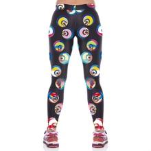 NEW KYK1052 Girl Women Circle Eyes 3D Prints High Waist Running Fitness Sport Leggings Jogger Yoga Pants Plus