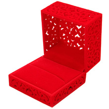 Hollow Engagement Jewery Organizer Box Rings Storage Cute Box Wedding Jewelry Box Holder Display Gift Ring Box
