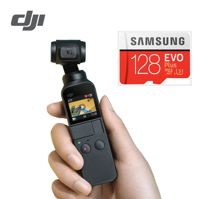 DJI Osmo Pocket 3 axis Stabilized Handheld Camera Compatible with Smartphone 4K 60fps Video Mechanical Stabilization Lightweight