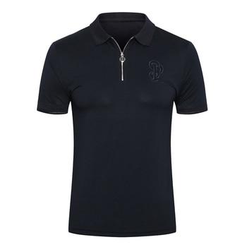 Billionaire polo shirt Cowhide men 2019 summer new Fashion casual zipper cotton Comfortable Embroidery gentleman free shipping