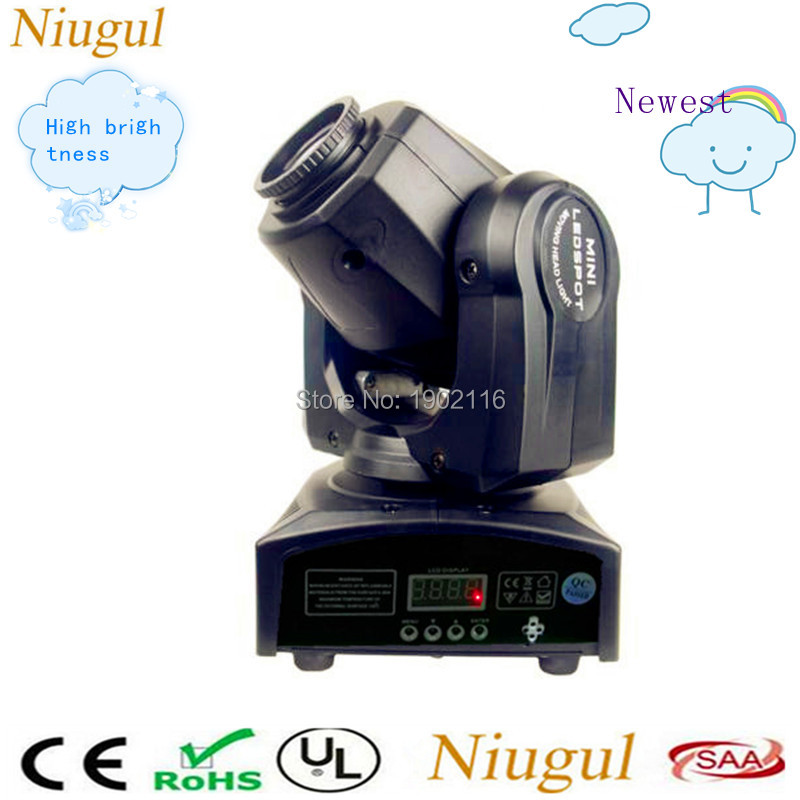 Newest High brightness 30w LED Moving Head gobo Light DMX512 control mini dj diso moving head light With Gobos Plate&Color Plate
