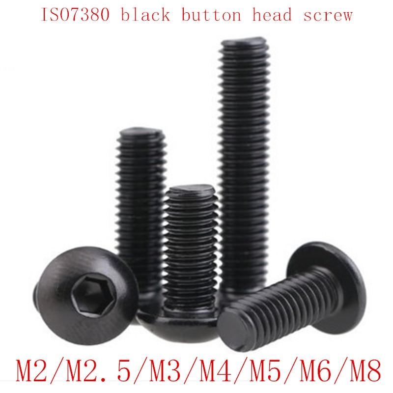 M1.6 Black Alloy Steel Allen Hex Socket Head,Button Head,Sunk Head Screws or Nut