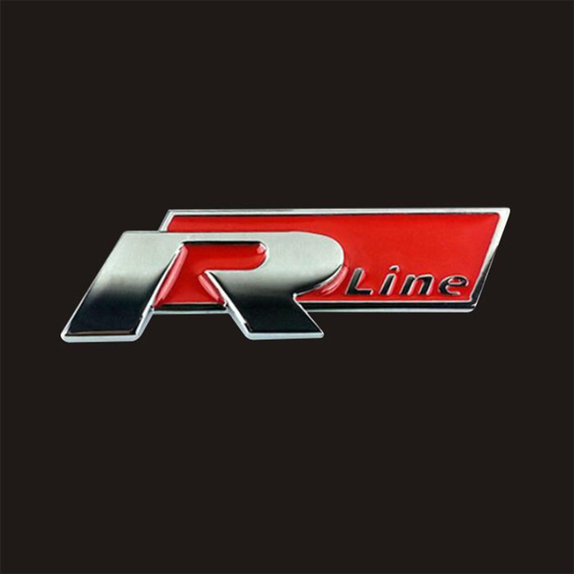 Car Stickers Three Dimensional Standard Metal Logo R Line Sports Side Styling Fashion Personality