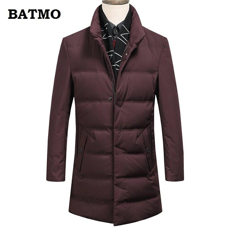 Batmo 2018 nouvelle arrivée d'hiver de haute qualité 90% duvet de canard blanc vestes hommes, hiver hommes parka de, manteau d'hiver plus-taille M-3XL 98515