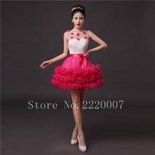 Lovely Scalloped Bridesmaid Dress Prom Gown Chiffon Cheap Wedding Party Dress Mini A Line Zipper Bridesmaid