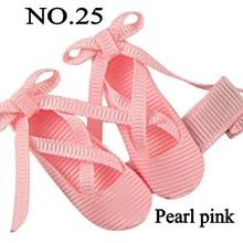 free shippng 10pcs Ribbon Ballet Slippers ballerina hair bows Dancing shoe hair clips