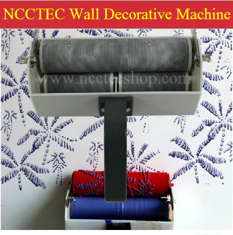 7'' two double color wall paint decorative machine | Artistic roller | single or double color | without the decorative roller