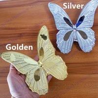 Hole Distance 96mm Silver Butterfly Zinc Chroming Brass Plating Dresser Handles Cabinet Knobs Kitchen Pulls Cartoon