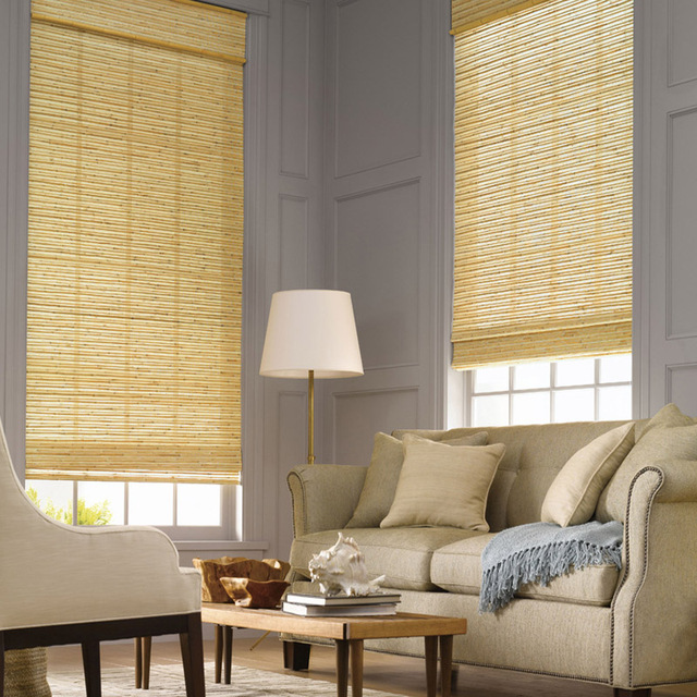 Natural Jute Blinds Curtains Luxury Woven Wood Shade Panels Window  Treatments Bamboo Linen Hemp Roller Chinese