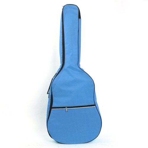 5 pcs of Gig Bag Case Soft Padded Straps for Folk Acoustic Guitar 39 40 41 Inch Sky Blue