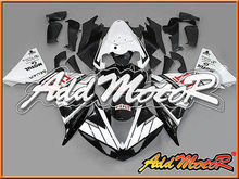 Motoegg Injection Molded Fairings Fit YZF R1 YZF-R1 12-14 FIAT White Black #52   Motorcycle plastic