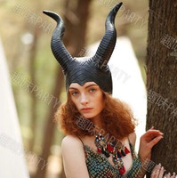 Ox Horn Cap Maleficent Horns Maleficent Hat Witch Hat Halloween Hat Carnival Supplies