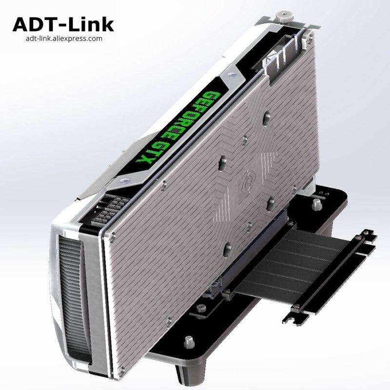 Base de carte graphique GTX GPU boîtier ATX support intégré externe PCI-e GTX1080TI Gen3.0 PCIe 16x à 16x câble d'extension de Riser ADT