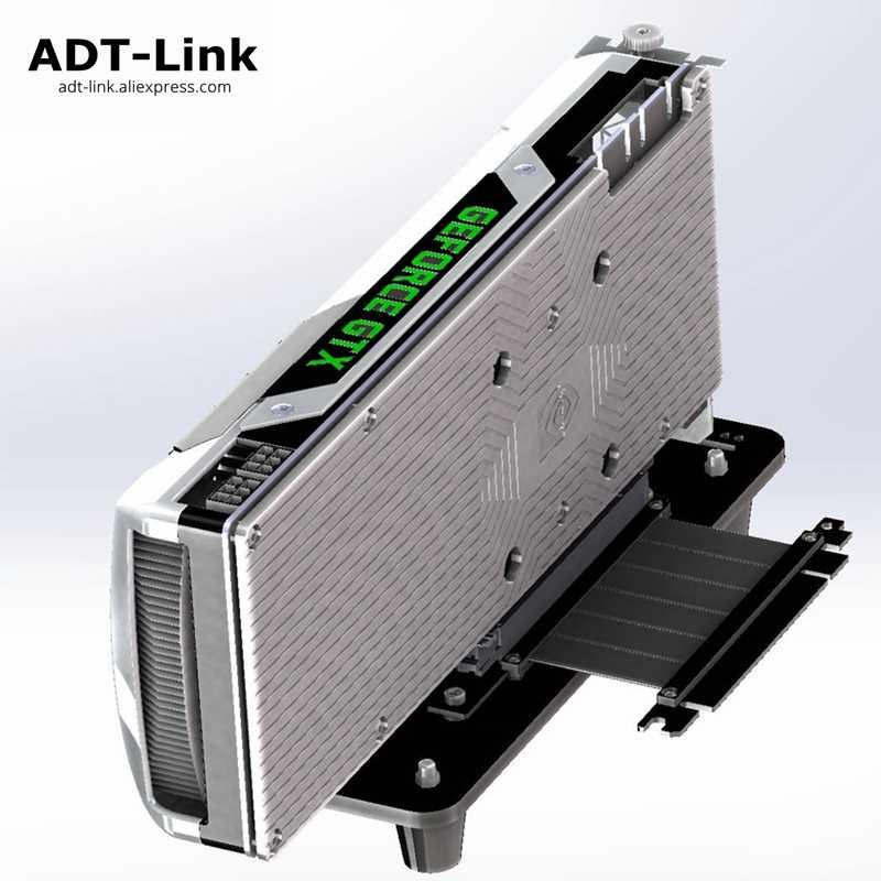 GTX GPU Graphics Card Base ATX Case PCI-e External Built-in Bracket GTX1080TI Gen3.0 PCIe 16x To 16x Riser Extender Cable ADT