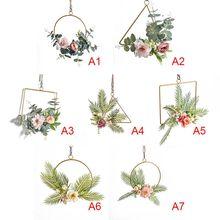 Wall Wreath Geometric Metal Garland Hanging Decoration For Wedding Backdrop Decor