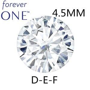 Image 1 - Piedra suelta Real Charles colgard moissanita con certificado Forever One VVS DEF 4,5mm 0.29CT, excelente corte de pruebas positivas
