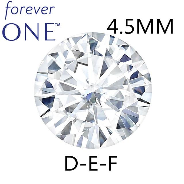 Piedra suelta Real Charles colgard moissanita con certificado Forever One VVS DEF 4,5mm 0.29CT, excelente corte de pruebas positivas