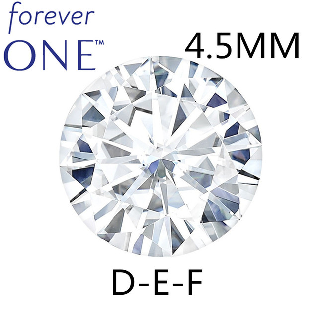 Real Charles Colvard Moissanite Loose Stone With Certificate Forever One VVS VS DEF 4.5mm 0.29CT Excellent Cut Positive Testing