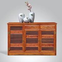 Одноцветный деревянный шкаф для обуви с тремя отделениями из палисандра мебель для гостиной обувной набор антикварная Ёжик деревянная меб