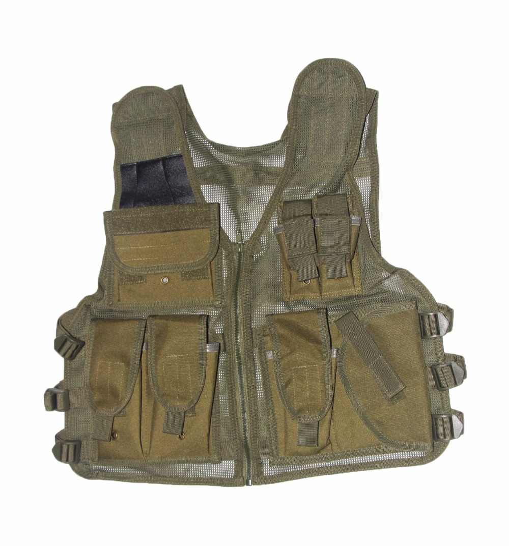 Tactical Army Military Woodland Camouflage Vest Airsoft Outdoor Hunting Molle Quick Dry Hunting Jacket Clothes Vest Green Tan