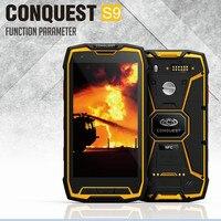 2016 Original Chinh Phục S9 Điện Thoại Gồ Ghề IP68 CHỐNG Thấm Nước Octa Core13MP NFC Glonass GPS Anadroid 5.1 LVDS Máy Ảnh 6000mA S8 S6 S5
