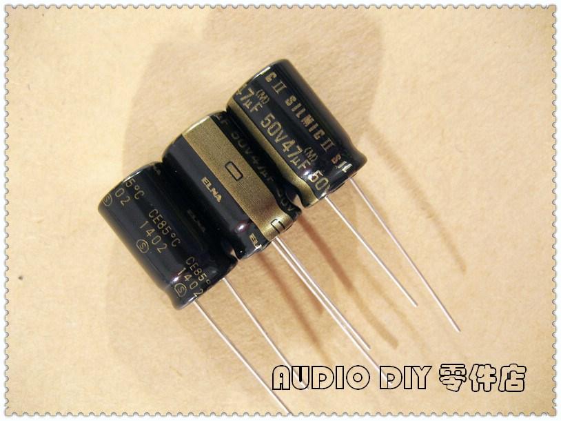 ELECYINGFO ELNA Black Gold SILMIC II Generation 47uF 50V47UF Audio Electrolytic Capacitor