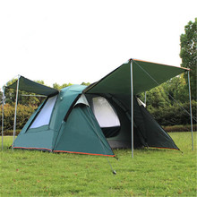 Camel 3-4 person large family tent camping tent one room two hall sun shelter gazebo beach tent for Advertising/exhibition hot sale waterproof camping tent gazebo ice fishing tent awnings winter tent sun shelter beach tent one hall and one room