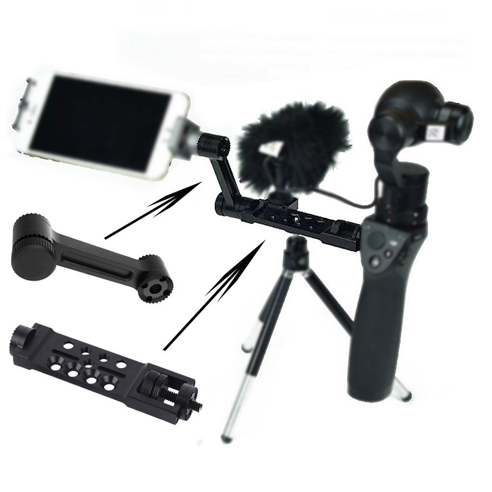 For DJI OSMO RCmall Straight Extension Arm + CNC Alloy Universal Mount Assembly for Osmo Handheld <font><b>4K</b></font> <font><b>Camera</b></font> and 3-Axis <font><b>Gimbal</b></font> image