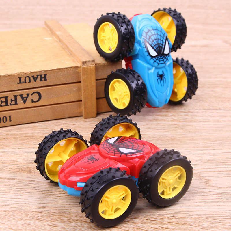 2018 yeni atalet çift taraflı DAMPERLİ KAMYON dayanıklı düşen 360 oyuncak araba döndü çocuk hediye oyuncaklar (rastgele renk)