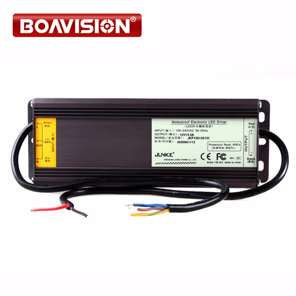 12V 12.5A LED Driver Power Supply Transformer WaterProof Isolated for CCTV 12V Power Supply Adapter