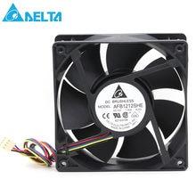 Delta AFB1212SHE 12038 12cm 1.6A 12v 4 fils PWM ventilateur de refroidissement 120*120*38mm 151.85CFM 3700 TR/MIN 53dB-A