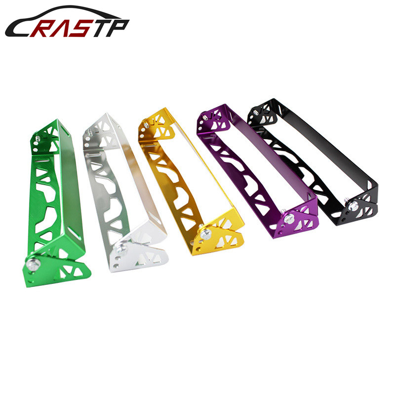 RASTP- New Arrived Car Styling Aluminum License Plate Frame Power Racing Frames Tag Holder With Logo RS-BTD012