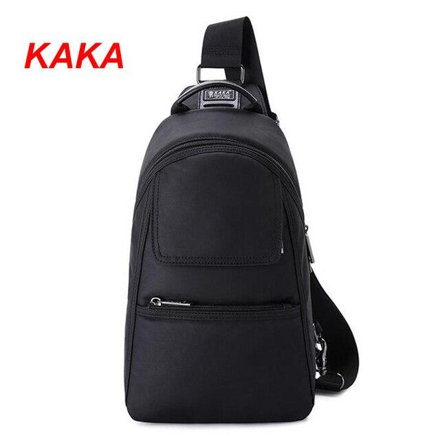 812d8d79a KAKA Cool Black Men's Anti Theft Chest Pack Light Waterproof Shoulder Bags  Multi-function Male Crossbody Messenger Bags Y126