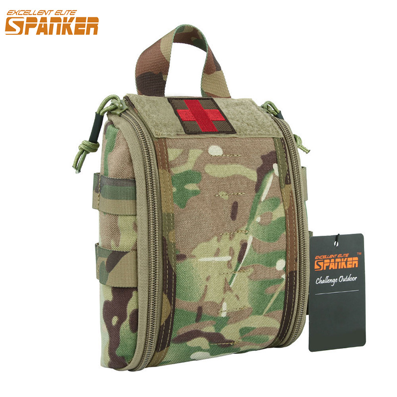 Tactics Portable Multi-Layer Waist Packs Camouflage Molle Military Waist Bag Hunting Waterproof Pouch