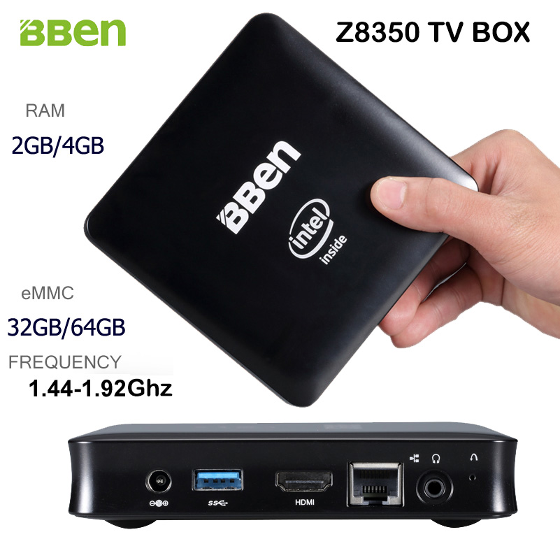 Bben Windows 10 Intel Quad Core Z8350 1.44-1.92Ghz CPU TV Box Computer BT4.0 Wifi HDMI Ram/Rom 2G/4G+32G/64G Optional Mini PC higole gole1 plus mini pc intel atom x5 z8350 quad core win 10 bluetooth 4 0 4g lpddr3 128gb 64g rom 5g wifi smart tv box