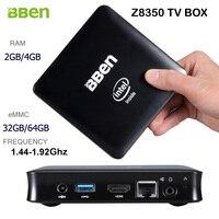 Bben Windows 10 Intel Quad Core Z8350 1.44-1.92Ghz CPU TV Box Computer BT4.0 Wifi HDMI Ram/Rom 2G/4G+32G/64G Optional Mini PC