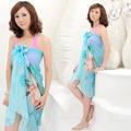 The 2014 New South Korean chiffon long beach towel wholesale swimsuit scarf veil wrapped yarn A19