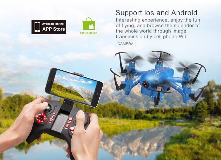 MINI JJRC H20W Drone With Camera WIFI FPV RC quadcopter  Hexacopter LED RTF VS Syma X13 X12S DRON jjrc h33 mini drone rc quadcopter 6 axis rc helicopter quadrocopter rc drone one key return dron toys for children vs jjrc h31