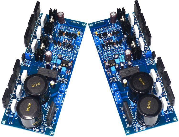 1 pair A60 Current Feedback Power Amplifier Board Two-channel HiFi Amplifier Board цена 2017